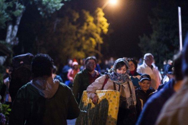 Des habitants de Pucon évacués (Cooperativa.cl)