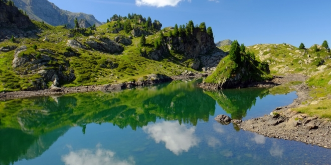 La rando des Lacs de la Pra: David / Longet / Léama